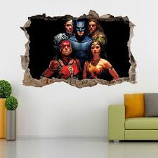 justice league 3d smashed wall