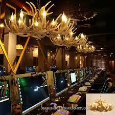 antique faux deer antler chandeliers 8 eight candelabra pendant lights rustic lighting fixtures for dining room
