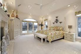 Luxury Master Bedroom Suites Luxurious Master Bedroom Suite With 2 Sided Fireplace Custom Crown