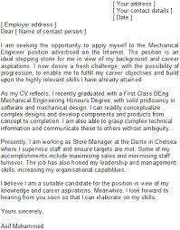 Entry Level Mechanical Engineer Cover Letter Mechanical Engineering
