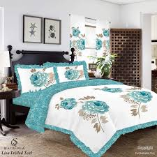duvet cover with pillowcase quilt cover bedding set double king lisa printed new