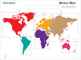 Editable World Map For Powerpoint Powerpoint World Map With Rollover Effect