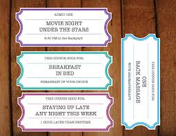 Make Voucher Printable Coupons Tickets Vouchers DIY Printable 1