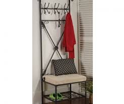 Coat Rack With Bench Seat Mudroom Entryway Bench Seat With Coat Rack Hall Storage Bench Seat 97