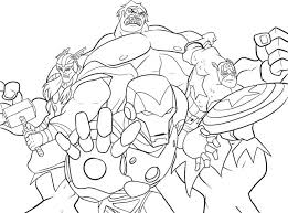 Avengers Coloring Pages Pdf Avenger The Justice League Marvel Sheets
