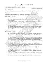 Free doc (word) and pdf employment contract template suitable for any industry and essential when hiring new employees for your business. Free Temporary Employment Contract Free To Print Save Download