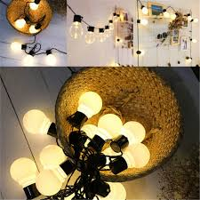 Pergola String Lights Us 6 29 28 Off Indoor Outdoor Led Bulbs String Lights Ball Globe Connectable Fairy Lamp Wedding Party Home Yards Pergolas Gardens Barbecue In