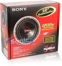 sony xs l121p5w xplod 12 car subwoofer sonic electronix product sony xs l121p5w