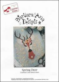 Details About Barbara Ana Designs Counted X Stitch Chart Spring Deer
