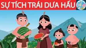 Sự tích trái dưa hấu   Mai An Tiêm   Sự tích quả dưa hấu   Kể Bé Nghe Truyện  cổ tích Việt Nam - YouTube
