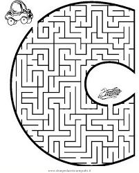 Disegno Labirintolettere05 Categoria Giochi Da Colorare