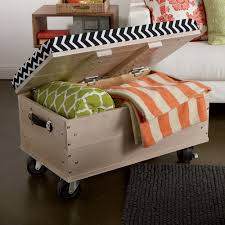 ottoman on wheels with chevron pattern bigdiyideas with regard to diy storage ottoman
