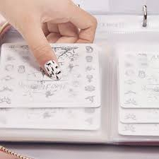 40 Slots Pink Nail Art Stamping Plate Holder Large Size Water ...