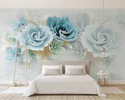 Beibehang Customized Modern Beautiful 2019 New 3d Embossed Flowers
