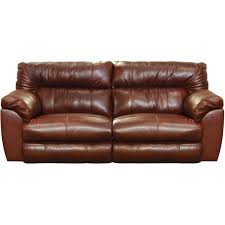 catnapper milan leather lay flat power reclining sofa in walnut ct 64341 1283 19