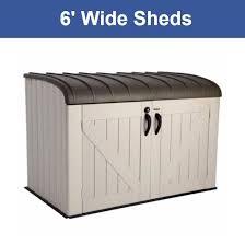 wide storage sheds