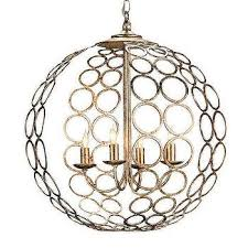 silver hammered metal circles chandelier