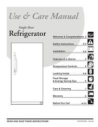 Frigidaire Freezer Warning Lights Frigidaire 297081600 Refrigerator User Manual Manualzz Com