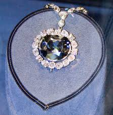 diamond gemstone the hope diamond its deep blue coloration is caused by trace amounts of boron in the diamond