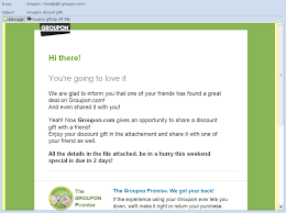 Example Of A Coupon Adorable Your Friend Has Shared A Groupon Malware Coupon With You