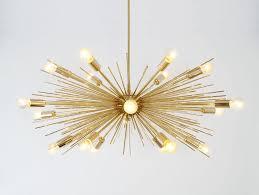gold sputnik chandelier. Mid Century Modern Gold Brass Sputnik Chandelier - Chandeliers 4