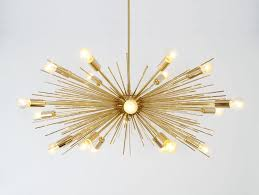 mid century modern gold brass sputnik chandelier chandeliers