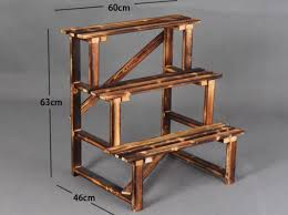flower stand wooden steps plant stand