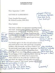 sample agreement letters free sample contract letter of agreement appealing free sample
