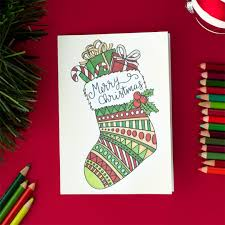create your own christmas cards free printable free christmas coloring card most wonderful time of year