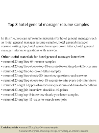 Top8hotelgeneralmanagerresumesamples 150425021819 Conversion Gate01 Thumbnail 4 Jpg Cb 1429946348