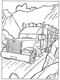 Kleurplaten Amerikaanse Vrachtwagens