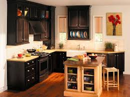 Oak Woods Materials Black Kitchen Cabinets Color Trends Simple Black Color  Trends Of Wall Mounted ...