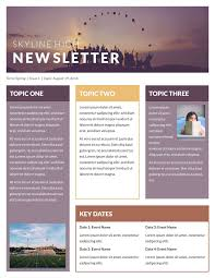 Newletter Example Free Newsletter Templates Examples Newsletter Template
