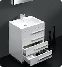 various modern white bathroom vanity fvn80wh white modern bathroom vanity w faucet medicine belvedere 24 inch