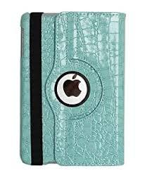Reviews! inShang Luxury <b>crocodile pattern PU leather</b> 360 degree ...