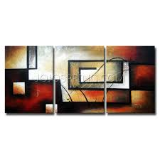 abstract 418 3 piece gallery wrapped hand painted canvas art set
