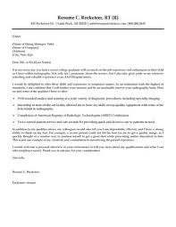 Rad Tech Cover Letter And Resume Examples Helpful Tips Pinterest