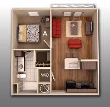 Plantas De Apartamento De Um Quarto. 2 Bedroom Apartment ...