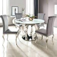 6 seat dining table cool round dining table for 6 white glass chrome round dining table