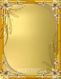 Скачать рамку Золотые лилии Февраля Клипарты psd  Скачать