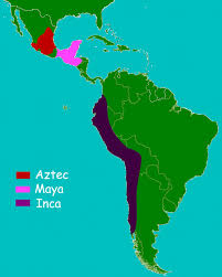 history for kids aztecs a and inca map of aztec an and incan civilizations