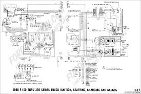 ford truck technical drawings and schematics section h wiring Ford Distributor Wiring Diagram 1968 f 100 thru f 350 ignition, starting, charging and gauges