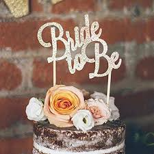 <b>10pc Gold</b> & Silver Glitter Bride To Be Cupcake Toppers Bridal ...
