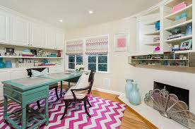 view in gallery chevron pattern rug adds color and pattern to the home office design dana lauren chic home office design