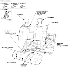 Need picture diagram removing rear seat bottom wiring harness acura cl wiring full size