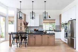 kitchen trend wood stained and painted
