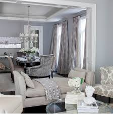 Contemporary Blue And Gray Dining Room With Blue Gray Wall Color - Gray dining room paint colors