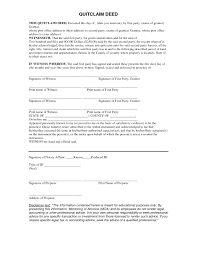 Quit Claim Deed Form Delux Captures Printable Template Sampl On ...