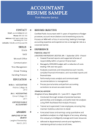 Example Of Accountant Resumes Accountant Resume Sample And Tips Resume Genius