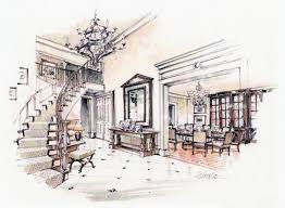 interior design sketches living room - Google Search | Magic Marker Makings  | Pinterest | Interior design sketches, Living rooms and Interiors